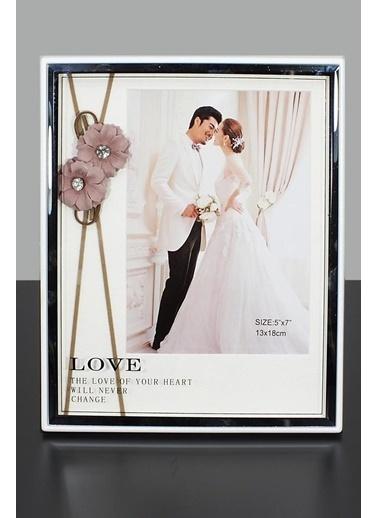 Kitchen Love Aynalı Lüx Resim Çerçevesi- Beyaz